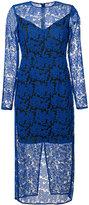 Diane von Furstenberg lace midi dress - women - Polyester/Spandex/Elastane - 2