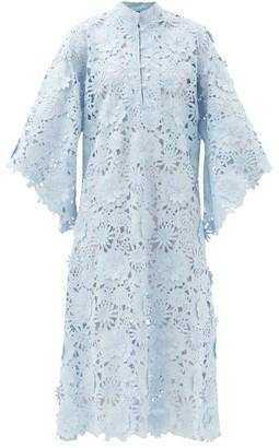 La Vie Style House - No. 179 Guipure-lace Kaftan - Light Blue