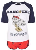'gangster Napper' Cat Pyjama Set
