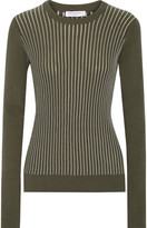 Equipment Shane ribbed cotton-blend sweater