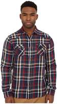 Mavi Jeans Lined Checked Button Down