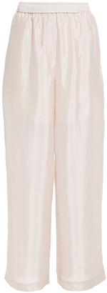 LVIR Satin Wide-leg Pants