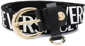 Versace webbed logo buckle belt