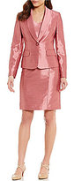 Albert Nipon Textured Shimmer Dress Suit