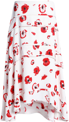 Proenza Schouler Tiered Floral-print Crepe Midi Skirt