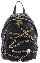 Moschino Chains Quilted Backpack