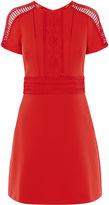 Karen Millen Braiding Dress - Red