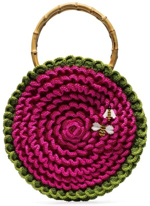 My Beachy Side Knitted Bee Embroidered Bag