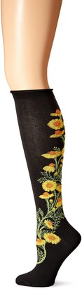 Ozone Women's Chamomile Apothecary Florals Knee High Sock