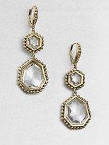 Stephen Dweck Rock Crystal & Bronze Drop Earrings
