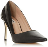 Dune London Barrelle Panelled Mixed Material Court Shoes