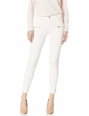 James Jeans Women's Twiggy Ankle Front Zip Skinny Jean in Snob 27