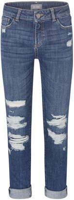 DL1961 DL 1961 Girl's Harper Distressed Boyfriend Denim Jeans, Size 2-7