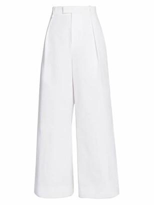 Bottega Veneta Pleat-Front Wide-Leg Pants