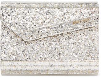 Jimmy Choo Candy Glittered Acrylic Clutch - Silver