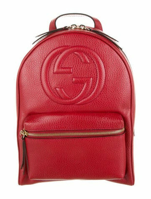 Gucci Soho Chain Backpack Red