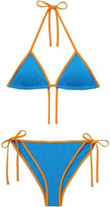 Burberry Monogram-motif triangle bikini set