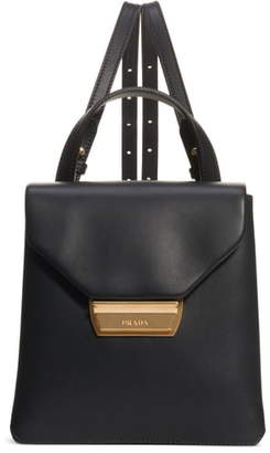 Prada New Calfskin Leather Envelope Backpack