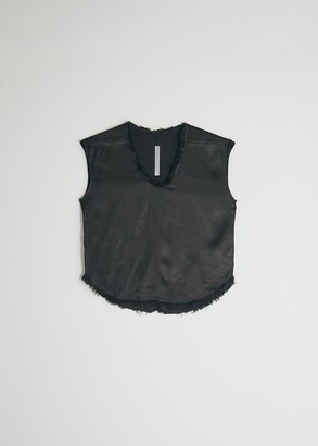 Raquel Allegra Women's Perfect Shell Top in Black, Size 3 | 100% Rayon