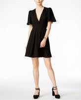Betsey Johnson Tie-Belt Surplice Wrap Dress