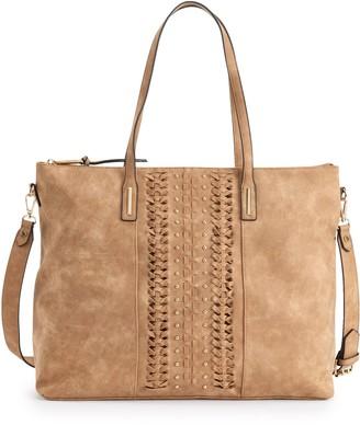 Violet Ray Skylar Studded Convertible Tote Bag
