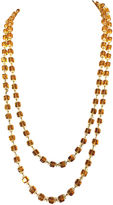 One Kings Lane Vintage Gold Glass Bead Flapper Necklace