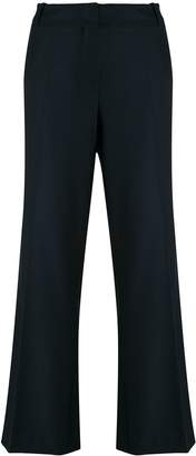 Kiltie cropped flared trousers