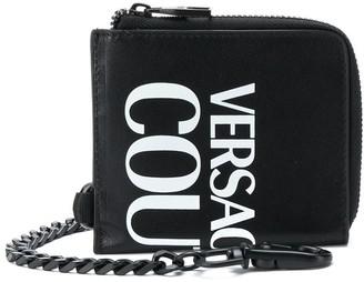 Versace Logo-Print Zip-Around Wallet