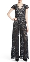 Alice + Olivia Women's Mariam Lace Jumpsuit