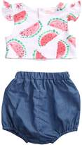 Hirigin Baby Girls Clothes 2pcs Set Watermelon Print vest Top Puffy Short pants (0-3m, )
