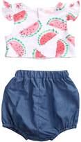 Hirigin Baby Girls Clothes 2pcs Set Watermelon Print vest Top Puffy Short pants (6-12m, )