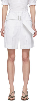 3.1 Phillip Lim White Belted Utility Shorts