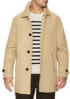 Cole Haan Spread Collar Buttoned Rain Coat
