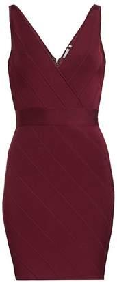 Herve Leger Icon V-Neck Dress
