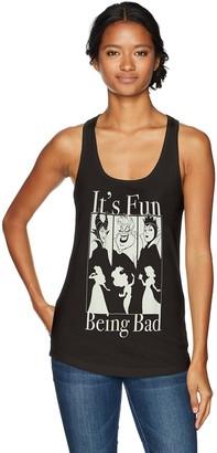 Disney Women's It's Fun Being Bad Ideal Racerback Graphic Tank Top