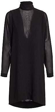 Akris Women's Waterfall Back Silk Dress