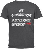 Old Glory Supervisor is My Superhero Dark Heather Adult T-Shirt
