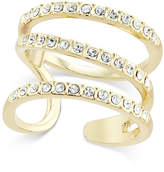 INC International Concepts I.n.c. Gold-Tone Triple Band Pave Statement Ring, Created for Macy's