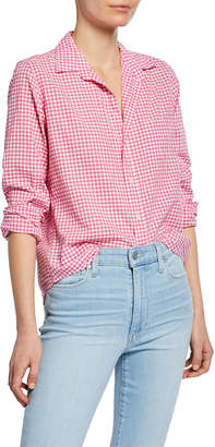 Frank And Eileen Barry Gingham Chambray Long-Sleeve Button-Down Shirt
