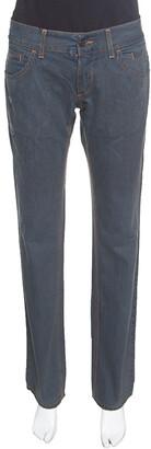 Dolce & Gabbana 14 Green Grey Washed Effect Distressed Denim Jeans M