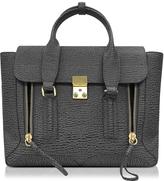3.1 Phillip Lim Pashli Ash and Charcoal Leather Medium Satchel