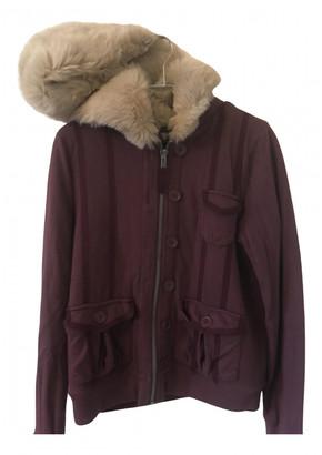 Marc Jacobs Burgundy Faux fur Jackets