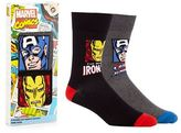 Marvel Pack Of Two Multi-coloured 'iron Man' And 'captain America' Socks In A Gift Box