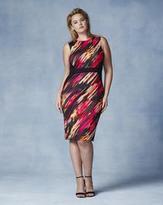 Grazia Print Scuba Midi Dress