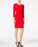Calvin Klein Zip-Shoulder Sweater Dress