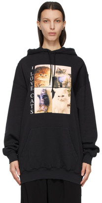 Balenciaga Black I LOVE PETS Medium Fit I Love Cats Hoodie