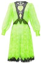 Christopher Kane Crystal-embellished Cutout Lace Dress - Womens - Yellow