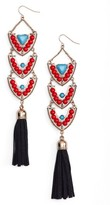 Adia Kibur Women's Stone & Tassel Drop Earrings