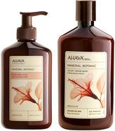 Ahava Hibiscus Fig, for Very Dry Skin Velvet Body Cream Wash & Lotion Set
