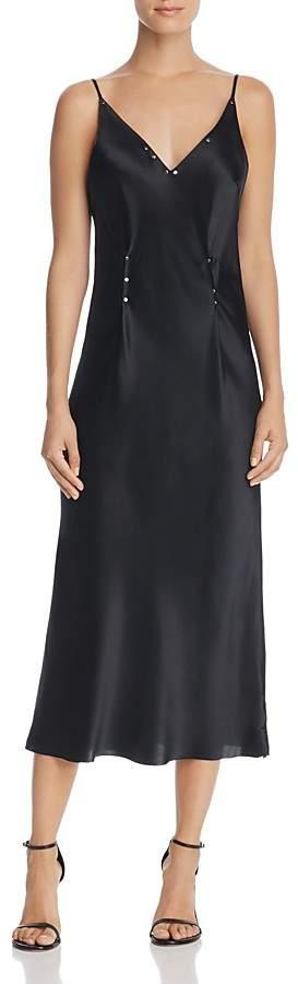 Alexander Wang Studded Silk Charmeuse Slip Dress